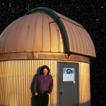 Photo Shoot at the RLM Telescope at UT - Spring 2004 - As it appeared on the back cover of No Less Days