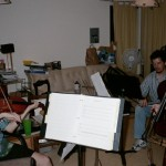 Megalopolis I rehearsal with Will Taylor, Charles Prewitt and David Dawson