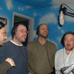 Some of The Greatest American Heroes sing on the title track.  From left to right, Chris La Cava, Mikey Walters, Jonathan Hoyle and Ernesto Marquez.
