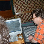 Tom Johnson and I mixing and mastering at Alto Vista Recording.